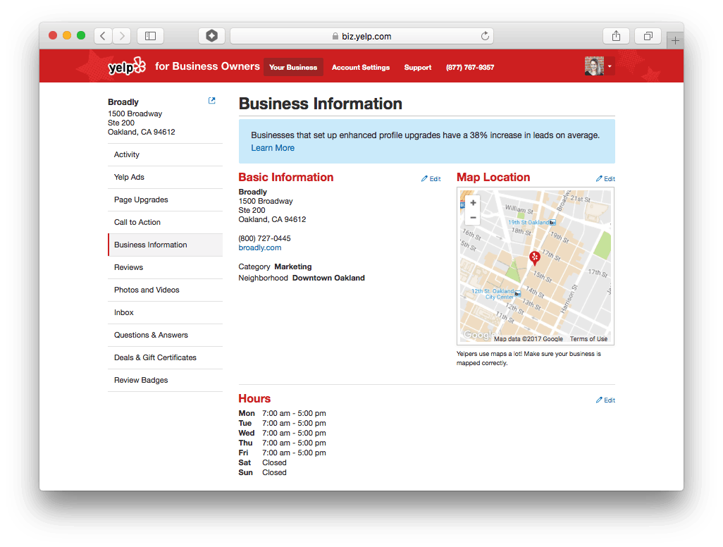 Business Hours Are Important To People Searching On Yelp. Best Practice Is  To Make Sure The People Searching For Your Business Have All The  Information They ...  How To Make Business Profile