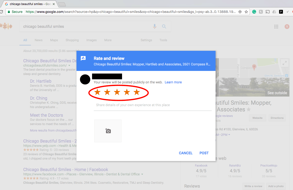 how to get google reviews 5 star screenshot