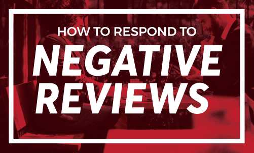 How to respond to negative reviews