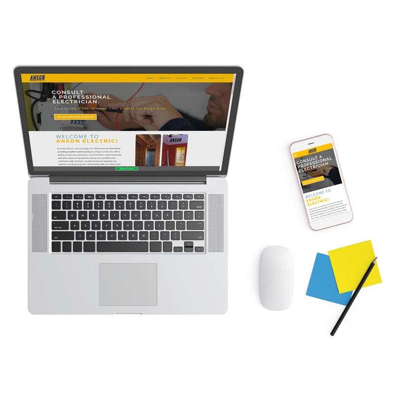 Broadly desktop and mobile website design