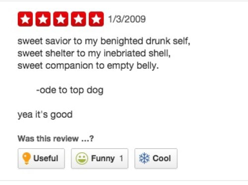 funny yelp review
