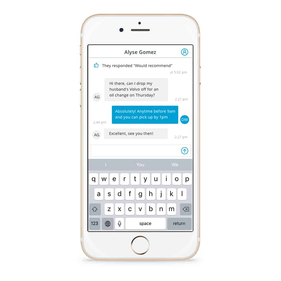 communicate with your customers with real-time messaging