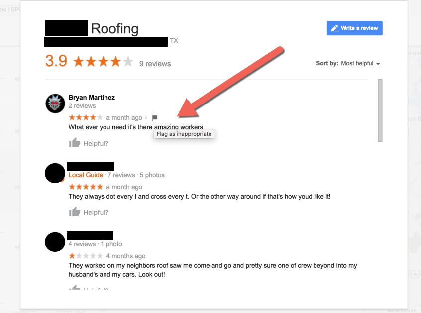 removing fake google reviews