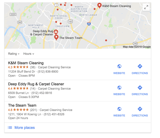 Carpet Cleaning Local Search