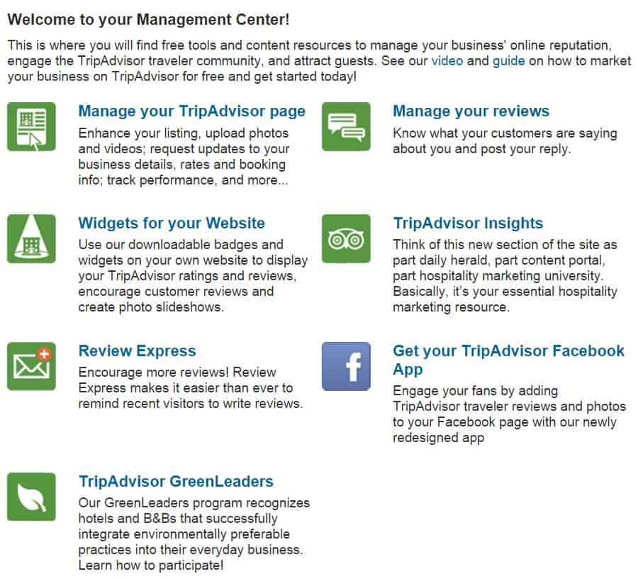 tripadvisor management center for deleting reviews