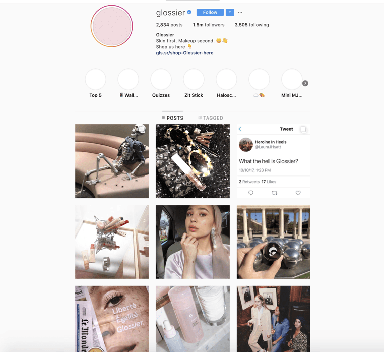 Glossier Customer Relationship Marketing Example