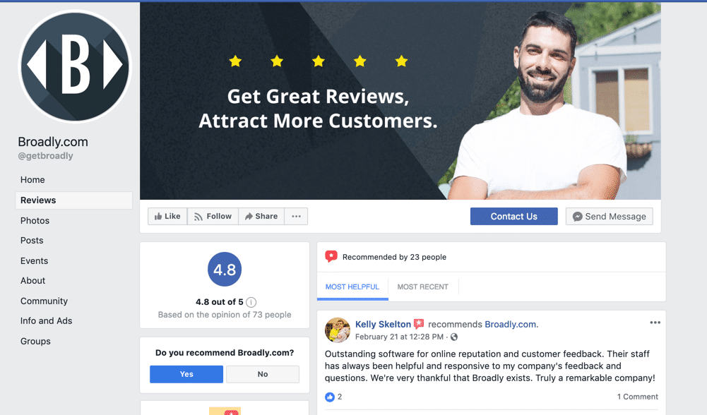 Facebook Reviews for Businesses
