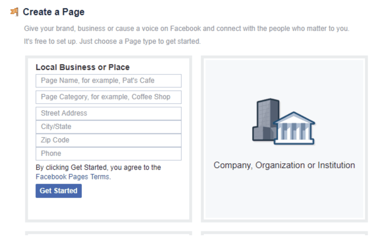 Creating a Facebook page for your local business