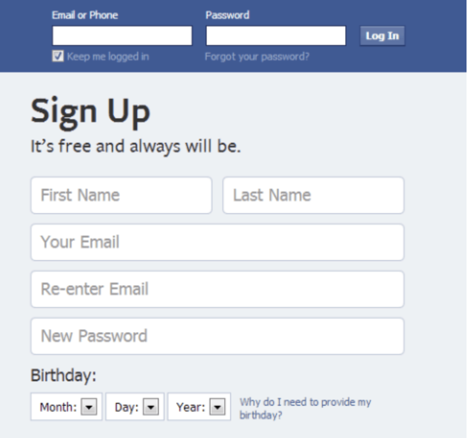 Signing up for a Business Facebook Page