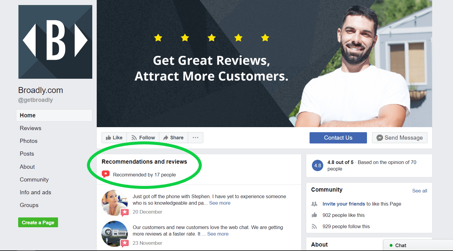 Get Feedback and Recommendations from Facebook Customers