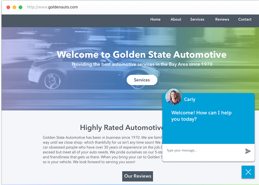 Auto Shop Webchat Tool