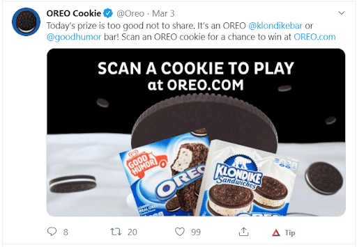 Oreo Cookie Social Media Example