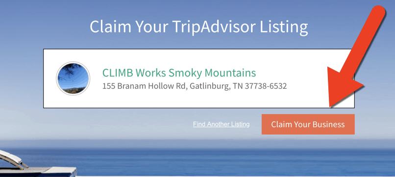 Claim your business on TripAdvisor