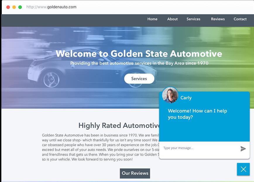 Auto Shop Webchat Tool
