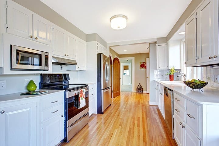 A very clean suburban kitchen