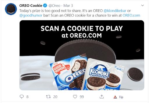 Oreo Cookie Social Media Example