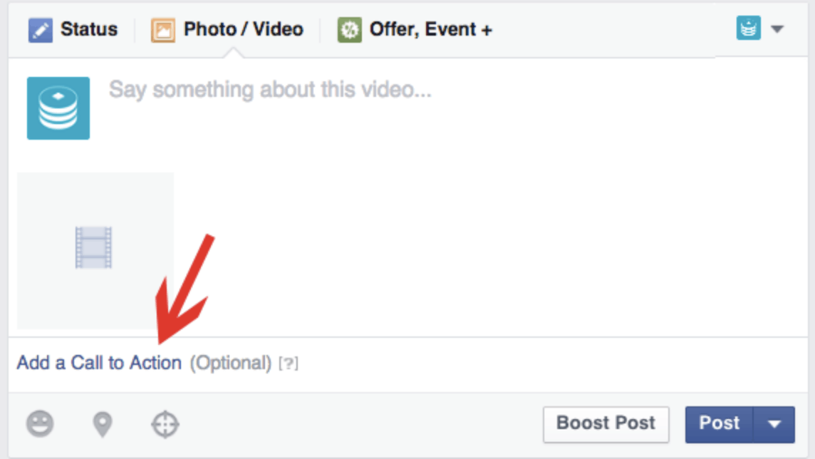 Include Call to Action Button (CTA) on your Facebook page