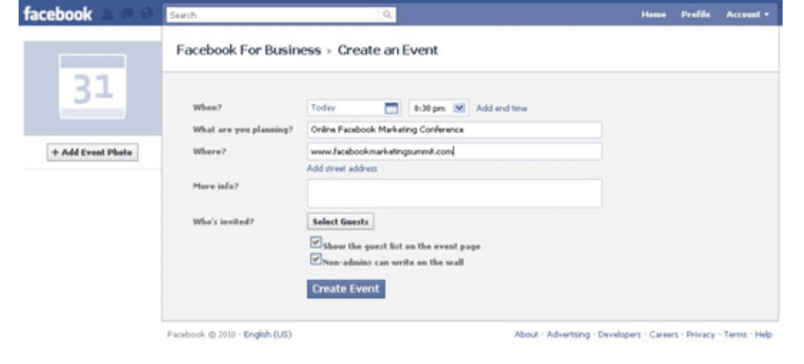 List Your Events on Facebook