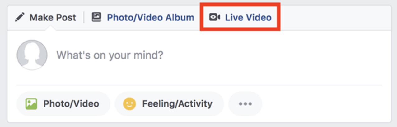 Go Live on Facebook Video