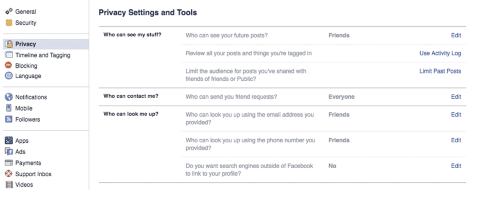 Facebook Page Settings & Tools