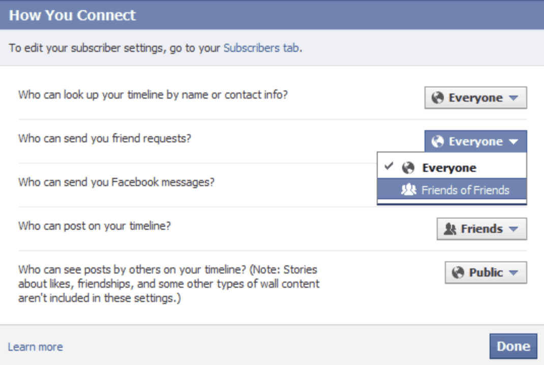 How to connect to Facebook