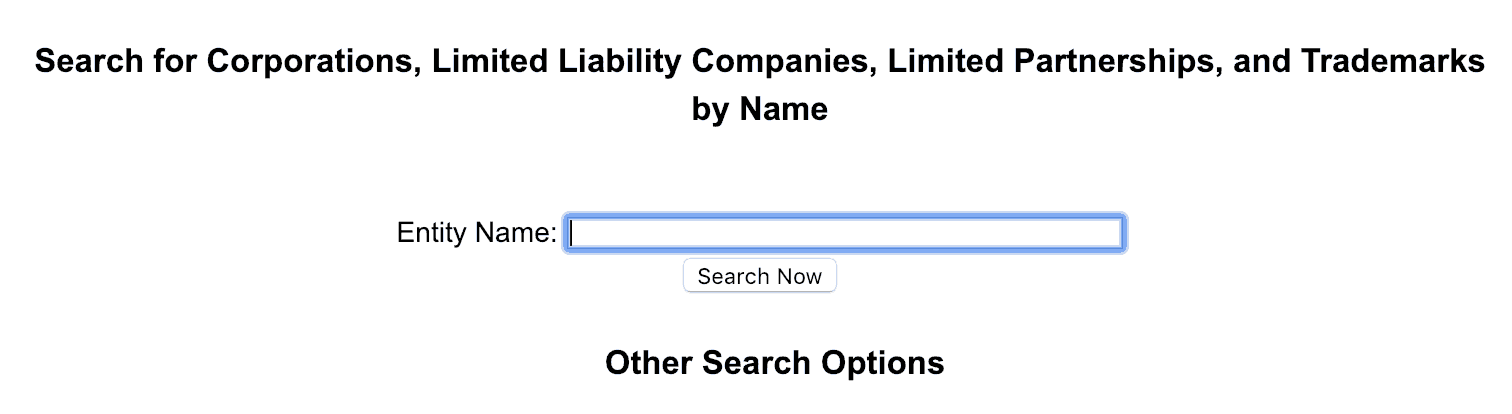 find your business name on corporations and LLC search engines