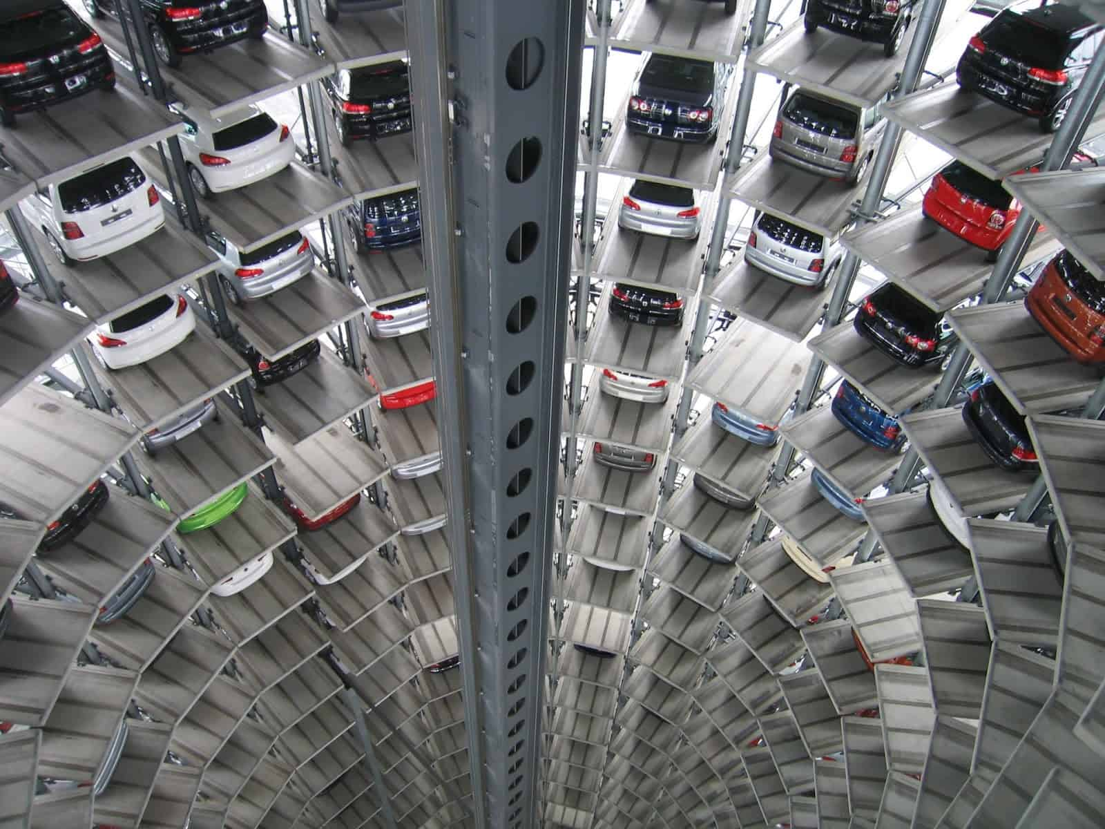 autos technology vw multi storey car park 63294