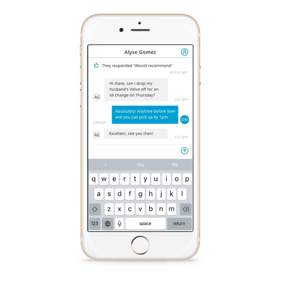 Broadly Mobile Text Messaging