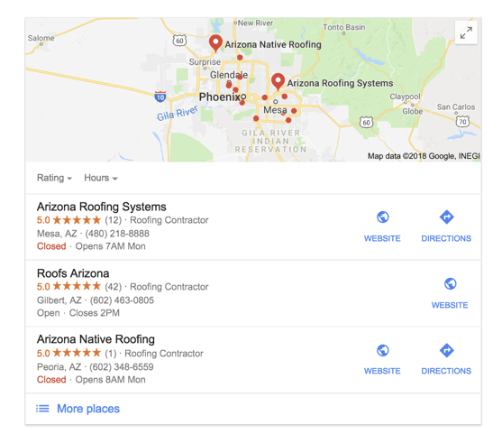 roofing local seo
