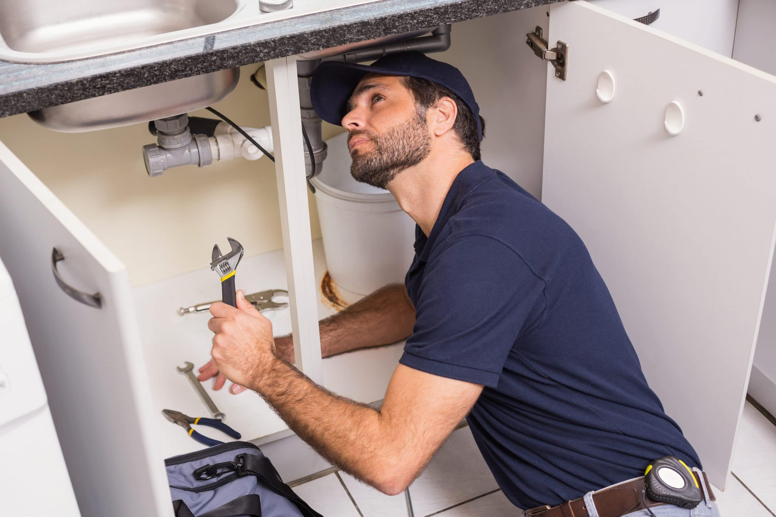 man with plumbing business in 2021