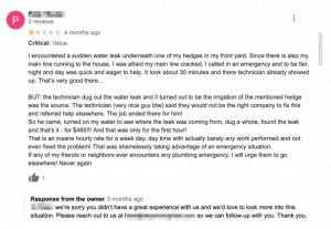 negative reviews home services