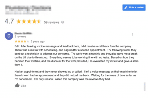 negative review home services right