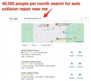 auto collision repair near me google search results